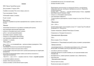 Образец резюме на работу 2018 скачать бесплатно бланк в word - formy-i-blanki.ru - Скачать бесплатно бланки, приказы и формы отчетности
