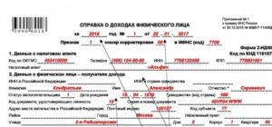 Справка 2 НДФЛ: новая форма образец порядок заполнения бланка