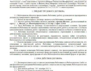 Трудовой договор с директором в 2018 году - генеральным ООО образец, единственный учредитель