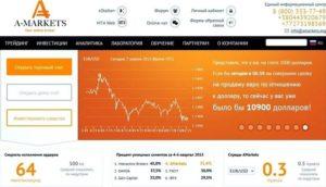 Форекс-брокер Amarkets: индикаторы обучение аналитика советники