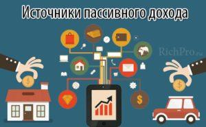 Виды и источники пассивного дохода: идеи