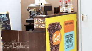 Франшиза кофе на вынос Go!Кофе — точка продаж высококлассного кофе