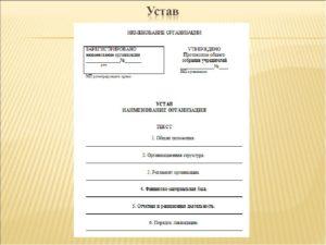 Устав предприятия или ООО — правила оформления