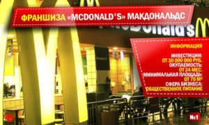 Франшиза МакДональдс в России