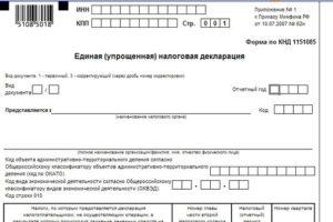 Декларация УСН: скачать бланк формы по КНД 1152018 образец