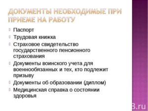 Документы при приеме на работу: какие нужны по ТК РФ