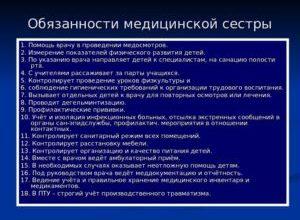 Функциональные обязанности медсестры должностная инструкция